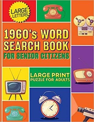 1960's Word Search Book For Senior Citizens